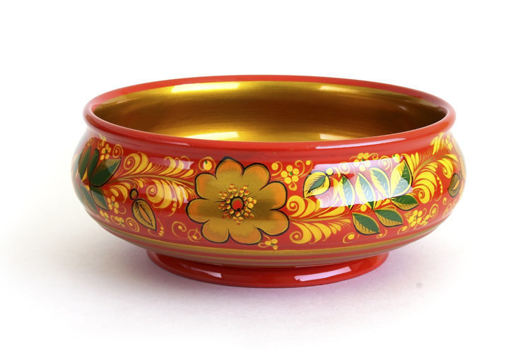 Чашка «Сластена» с хохломской росписью. 80х200