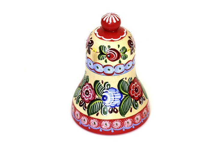 Шкатулка Колокольчик с городецкой росписью с11-1594