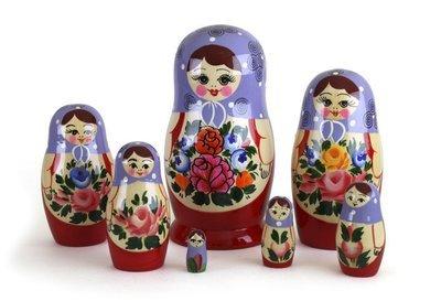 Матрёшка Семеновская 7 кукол. Роспись нетрадиционная (опт)