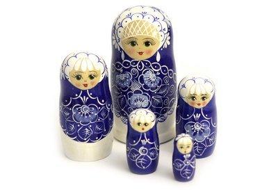 Матрёшка Семеновская авторская «Жемчуг» 5 кукол (опт)