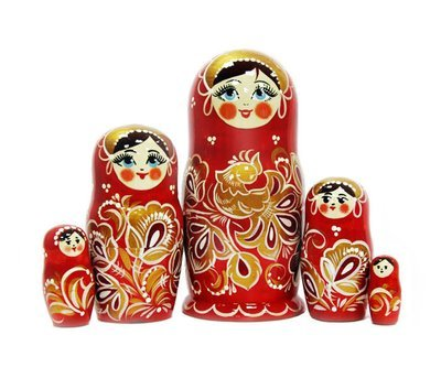 Матрёшка Семеновская авторская «Жар-птица» 5 кукол (опт)