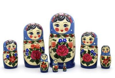 Матрёшка Семеновская «Аленка» (8 кукол) (опт)