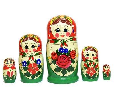 Матрёшка Семеновская «Алёнка» (5 кукол) (опт)