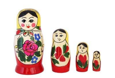 Матрёшка Семеновская «Россияночка» 4 куклы (опт)