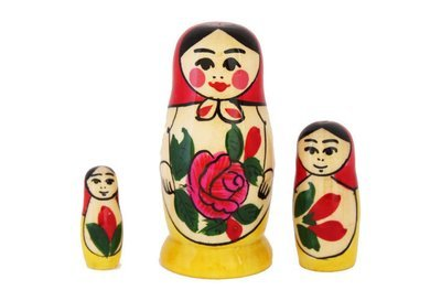 Матрёшка Семеновская «Россияночка» 3 куклы (опт)