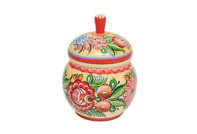 Сахарница с городецкой росписью С11-1549