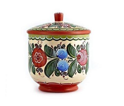 Сахарница с городецкой росписью С11-1551