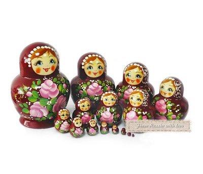 Матрёшка Семеновская «Катюша» 15 кукол (опт)