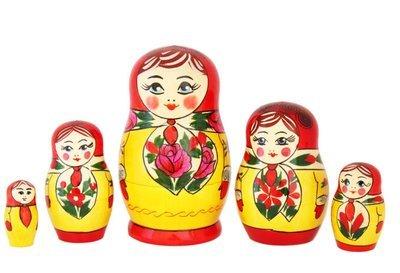Матрёшка Семеновская «Анюта» (5 кукол) (опт)