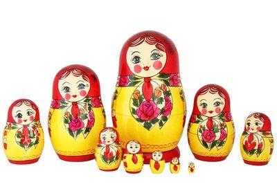 Матрёшка Семеновская «Анюта» 10 кукол (опт)