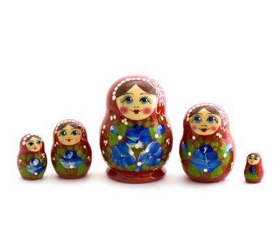 Матрёшка Семеновская «Катюша» 5 кукол (опт)