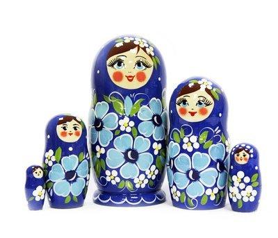 Матрёшка Семеновская «Ксюша» авторская 5 кукол (опт)