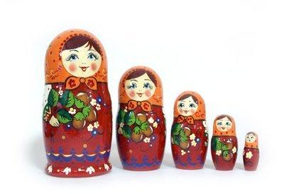Матрёшка Семеновская  «Ореховый букет» авторская 5 кукол (опт)