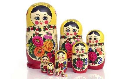 Матрёшка Семеновская «Россияночка» 10 кукол (опт)