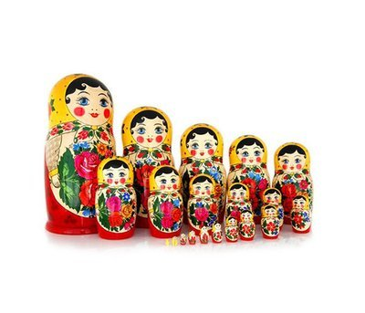Матрёшка Семеновская «Россияночка» 20 кукол (опт)