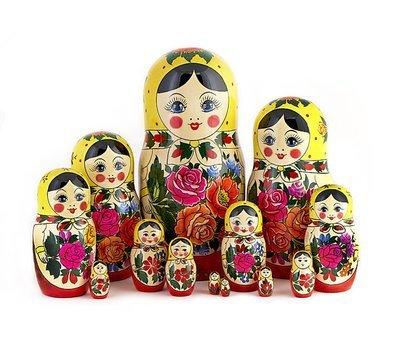 Матрёшка  Семеновская «Россияночка» (18 кукол) (опт)
