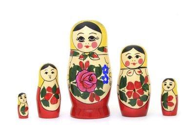 Матрёшка Семеновская «Россияночка» 5 кукол (опт)