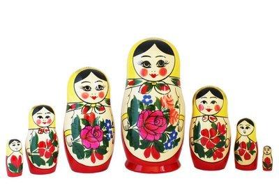 Матрёшка Семеновская «Россияночка» 7 кукол (опт)