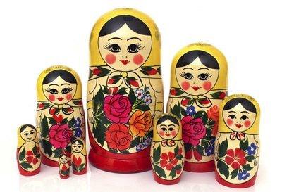 Матрёшка Семеновская «Россияночка» 8 кукол (опт)