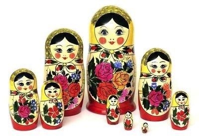 Матрёшка Семеновская «Россияночка» 9 кукол (опт)
