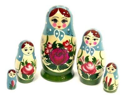 Матрёшка Семеновская с нетрадиционной росписью 5 кукол (опт)