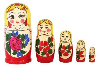 Матрёшка Семеновская «Сударушка» 5 кукол (опт)