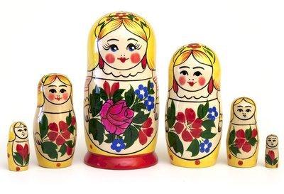Матрёшка Семеновская «Сударушка» 6 кукол (опт)