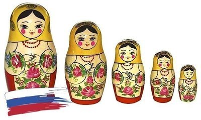 Матрёшка Семёновская «Машенька» 5 кукол (опт)