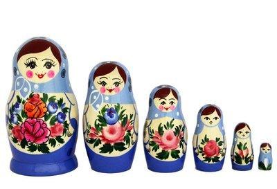 Матрёшка Семёновская с нетрадиционной росписью 6 кукол (опт)