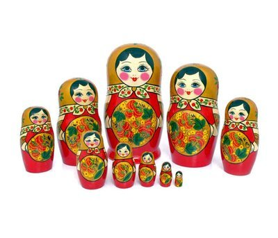 Матрёшка с Хохломской росписью 10 кукол (опт)