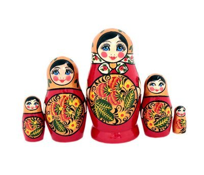 Матрёшка с Хохломской росписью 5 кукол (опт)