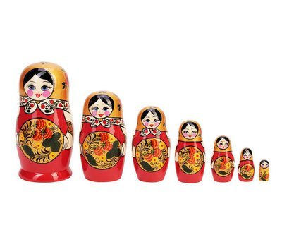 Матрёшка с Хохломской росписью 7 кукол (опт)