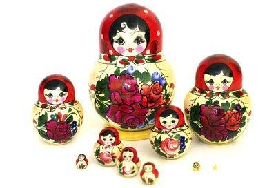 Матрёшка сувенирная «Россияночка» (10 кукол) (опт)