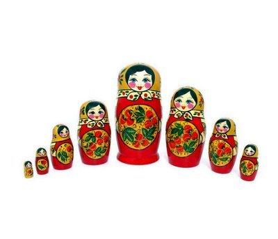 Матрёшка с Хохломской росписью 8 кукол (опт)
