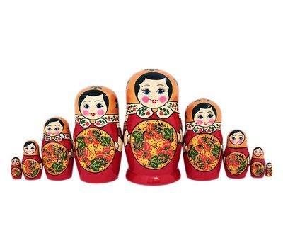 Матрёшка с хохломской росписью 9 кукол (опт)