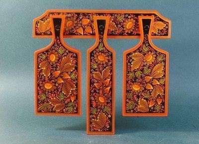 Доски разделочные 4-предмета  с хохломской росписью.