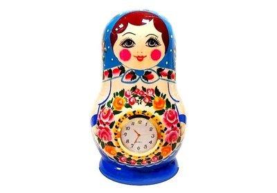 Часы «Матрёшка» нетрадиционная роспись