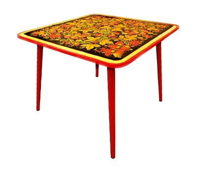 Стол детский квадратный «Осень» с хохломской росписью. 0-1-2-3 ростовая категория