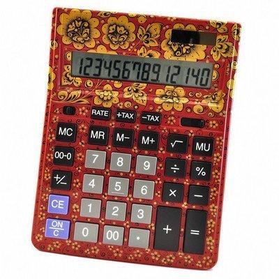 Калькулятор Хохлома, Вернисаж Z013-14, настольный, Citizen