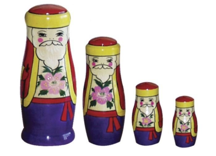 Игрушка «Дед Мороз» (4 куклы)