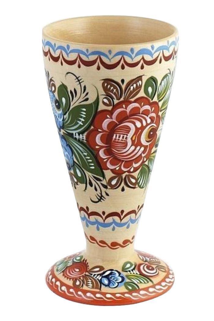 Карандашница с городецкой росписью с11-1518