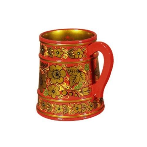Кружка для пива с хохломской росписью 120х110