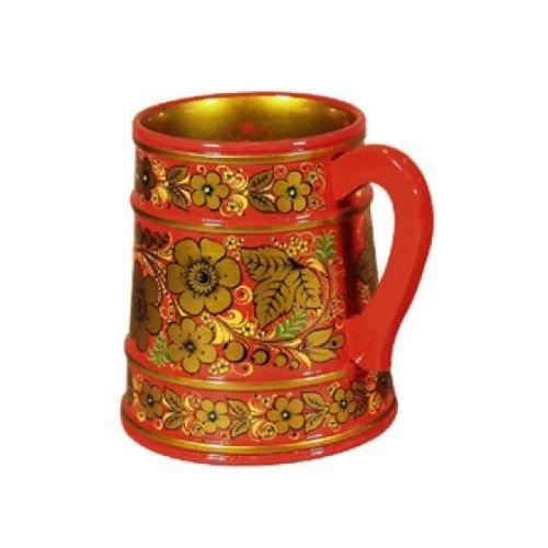 Кружка для пива  с хохломской росписью 140х120