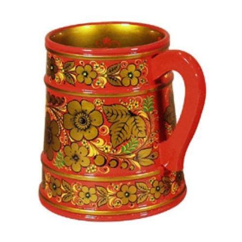 Кружка для пива  с хохломской росписью 180х140