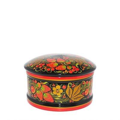 Коробка 80х130 с хохломской росписью