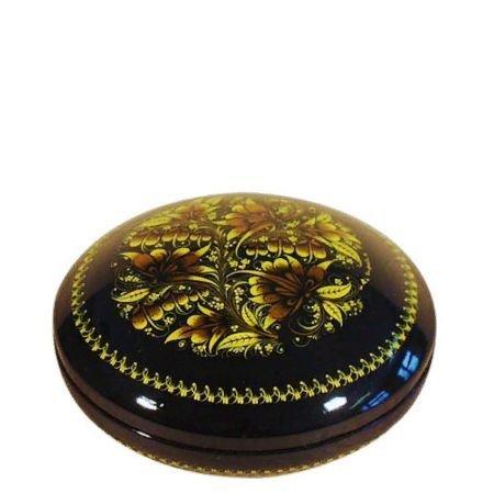 Коробка с миниатюрной хохломской росписью, 55х110