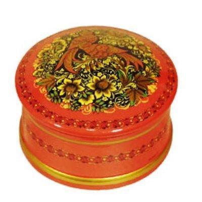 Коробка с миниатюрной хохломской росписью, 80х130
