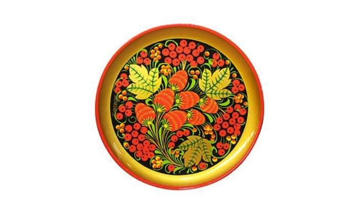 Тарелка-панно 150x15  с хохломской росписью