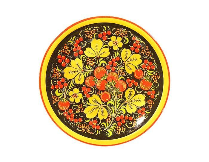 Тарелка-панно 300x21 с хохломской росписью