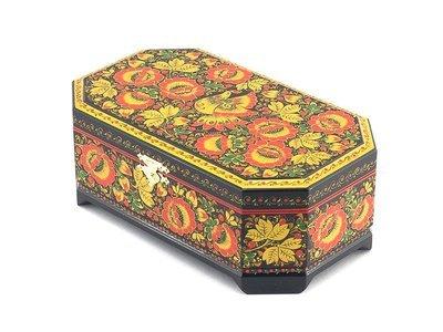 Ларец Хохлома 230x140 с хохломской росписью